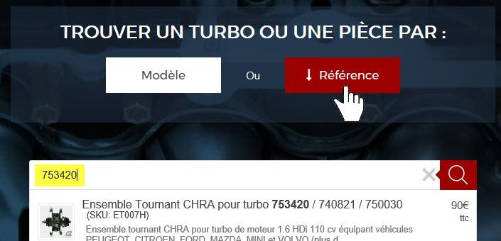 Recherche TURBO-DEPOT par référence