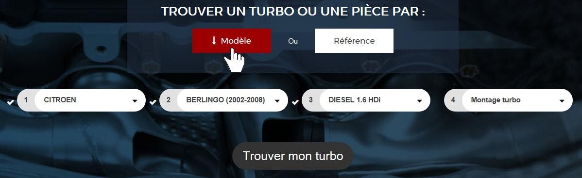 Recherche TURBO-DEPOT par modèle