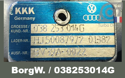 Identification BorgWarner 2