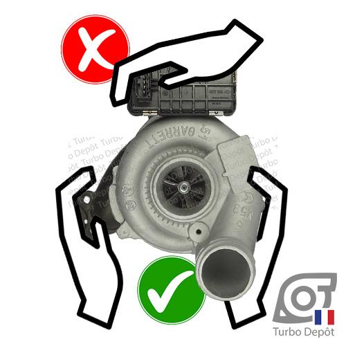 Précautions lors de la manipulation d'un turbo TURBO-DEPOT avec boitier actuateur électronique