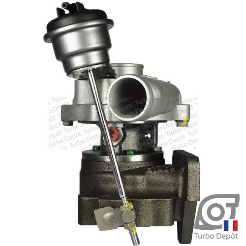 Turbo TR10004D pour BORGWARNER 5435-970-0000, face 3, sur NISSAN KUBISTAR (2003-2010) DIESEL 1.5 dCi 65cv et NISSAN MICRA (2002-2010) DIESEL 1.5 dCi 65cv