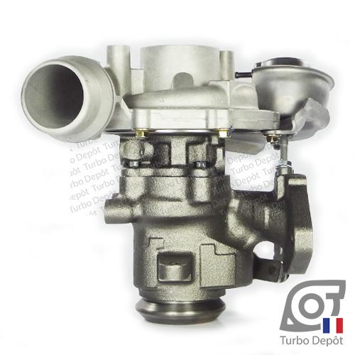 Turbo TR10028P pour GARRETT 801374, face 3, sur RENAULT CLIO / CLIO GrandTour (2012-2018) DIESEL 1.5 dCi 90cv