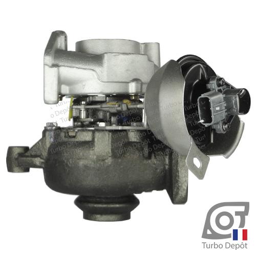 Turbo TR11029T pour GARRETT 753556, 756047, face 3, sur PEUGEOT 407 (2004-2011) DIESEL 2.0 HDi 136/140cv, PEUGEOT 508 (2011-…) DIESEL 2.0 HDi 136/140cv et PEUGEOT 607 (2000-2010) DIESEL 2.0 HDi 136cv