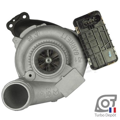 Turbo TR11057G pour GARRETT 770895-0002, 770895-0007, 770895-0008 face 1, sur MERCEDES C320 (2007-2014) DIESEL CDI 224cv