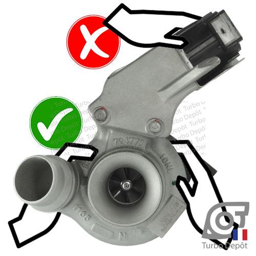 Précautions lors de la manipulation d'un turbo TR11033Y avec boitier actuateur électrique 49135-05830 à 49135-05896 et 49335-0220 à 49335-0441