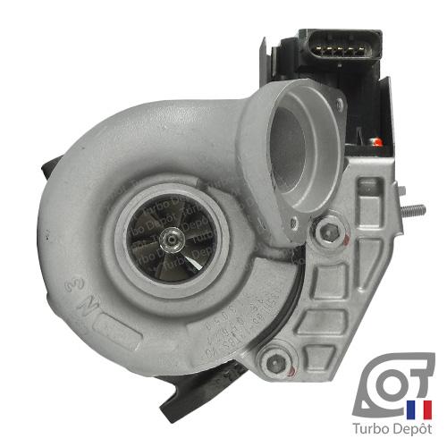 Turbo TR11036B pour MITSUBISHI 49135-05710, 49135-05720, 49135-05730, 49135-05740, 49135-05760, 49135-05761, face 1, sur BMW 118d (E87) (2004-2011) 2.0 DIESEL 122/136/143cv