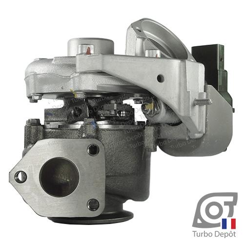 Turbo TR11036B pour MITSUBISHI 49135-05710, 49135-05720, 49135-05730, 49135-05740, 49135-05760, 49135-05761, face 2, sur BMW 318d (E90/E91) (2005-2012) 2.0 DIESEL 122cv