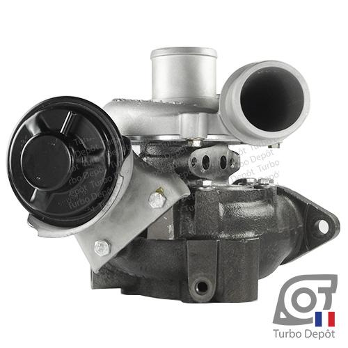 Turbo TR11047U pour GARRETT 721164-0004, 721164-0010, 721164-0012, 721164-0014, 801891-0002, 801891-0003, 17201-27040, face 2, sur TOYOTA PREVIA (2000-2006) DIESEL 2.0 D-4D 116cv
