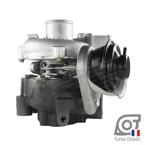 Turbo TR11047U pour GARRETT 721164-0004, 721164-0010, 721164-0012, 721164-0014, 801891-0002, 801891-0003, 17201-27040, face 3, sur TOYOTA RAV 4 (2000-2006) DIESEL 2.0 D-4D 116cv