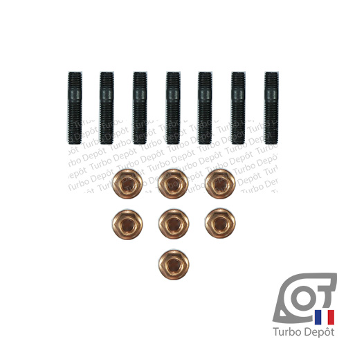 Lot de goujons BL143H pour turbo GARRETT ref. 452204-0001, 452204-0002, 452204-0003, 452204-0004, 452204-0005 et 452204-0007