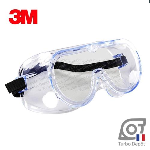 Lunettes de sécurité 3M 1621AF, vision 360°, anti-éclaboussures, verres anti-chocs, anti-buée