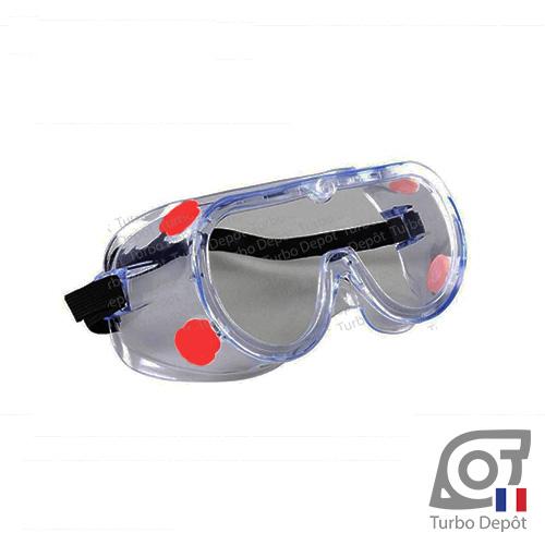 Vannes de circulation d'air sur lunettes de sécurité 3M 1621AF, vision 360°, anti-éclaboussures, verres anti-chocs, anti-buée