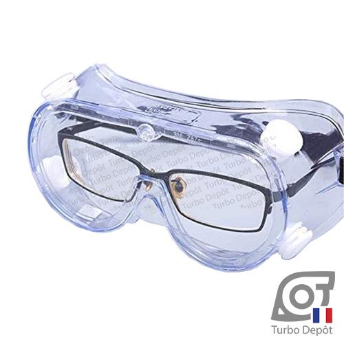 Lunettes sous lunettes de sécurité 3M 1621AF, vision 360°, anti-éclaboussures, verres anti-chocs, anti-buée