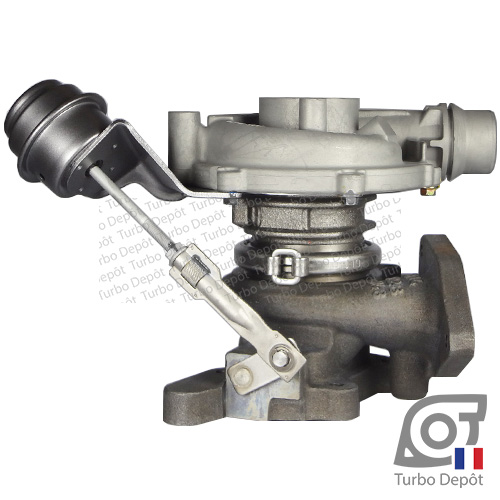 Turbo TR10020C pour GARRETT 795637, face 2, sur OPEL MOVANO (2010-…) DIESEL 2.3 CDTI 110/125cv et OPEL VIVARO (2000-2014) DIESEL 2.0 CDTI 90/115cv