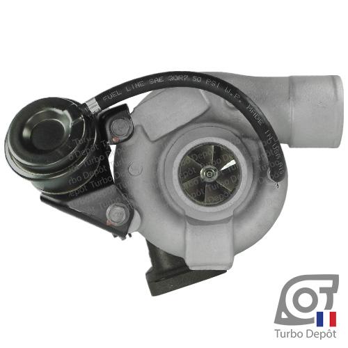 Turbo TR10035A pour BORGWARNER 5303-970-0034, 5303-970-0037, 5303-970-0075 et 5303-970-0076, face 1, sur IVECO DAILY (2000-2006) 2.8 DIESEL 106/125cv