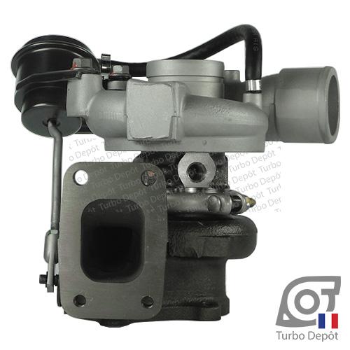 Turbo TR10035A pour GARRETT 454126-0001, 454126-0002, 751578-0001 et 751578-0002, face 2, sur IVECO DAILY (2000-2006) 2.8 DIESEL 106/125cv