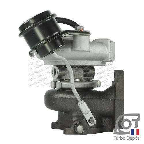 Turbo TR10035A pour MITSUBISHI 49377-07000 et 49377-07010, face 3, sur IVECO DAILY (2000-2006) 2.8 DIESEL 106/125cv