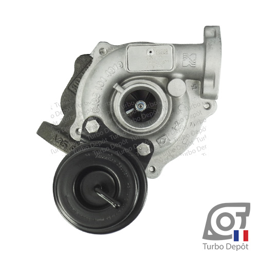 Turbo TR10053B pour BORGWARNER 5435-970-0018 face 1, sur FIAT DOBLO (2000-2010) DIESEL 1.3 D MultiJet 75cv, FIAT FIORINO (2007-2017) DIESEL 1.3 D MultiJet 75cv et FIAT PANDA (2003-2011) DIESEL 1.3 D MultiJet 75cv