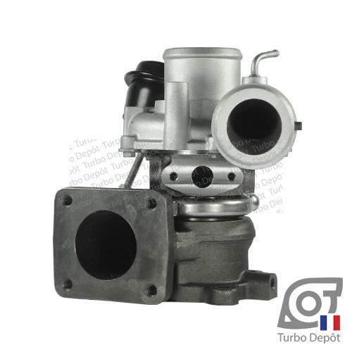 Turbo TR10054C pour IHI TURBO VL37 face 3, sur LANCIA DELTA (2008-2014) ESSENCE 1.4 120cv