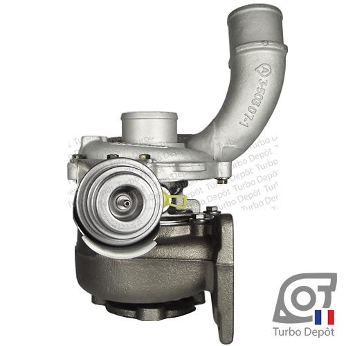 Turbo TR11003C pour GARRETT 708639, face 3, sur VOLVO S40 (1995-2004) DIESEL 1.9 DI 115cv et VOLVO V40 (1995-2004) DIESEL 1.9 DI 115cv