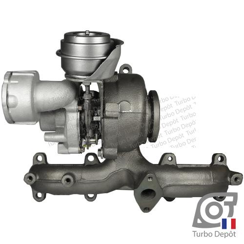 Turbo TR11006G pour Garrett 751851, BorgWarner 5439-970-0011, 5439-970-0022 et 5439-970-0082, face 5
