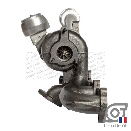 Turbo TR11009L pour BORGWARNER 5439-970-0012, 5439-970-0023, 5439-970-0083, face 3, sur VW VOLKSWAGEN POLO (2001-2009) DIESEL 1.9 TDI 130cv