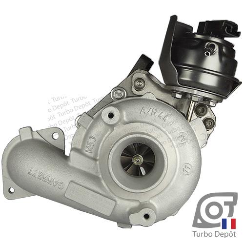 Turbo TR11010M pour GARRETT 784011, 806291, 824060, face 1, sur CITROEN BERLINGO (2008-…) 1.6 HDi 110/115cv, C3 (2009-2016) 1.6 HDi 110/115cv, C3 PICASSO (2009-…) 1.6 HDi 110/115cv, C4 (2010-…) 1.6 HDi 110/115cv, C4 AIRCROSS (2012-2017) 1.6 HDi 115cv, C4 PICASSO (2006-2013) 1.6 HDi 110cv, C4 PICASSO (2013-2017) 1.6 HDi BlueHDi 115cv, C5 (2008-2017) 1.6 HDi 110/115cv, DS3 (2010-2016) 1.6 HDi 110/115cv, DS4 (2011-2015) 1.6 HDi 110/115cv, DS5 (2011-2015) 1.6 HDi 110/115cv, FORD C-MAX (2010-…) 1.6 TDCi 95/115cv et FOCUS (2011-2018) 1.6 TDCi 95/105/115cv