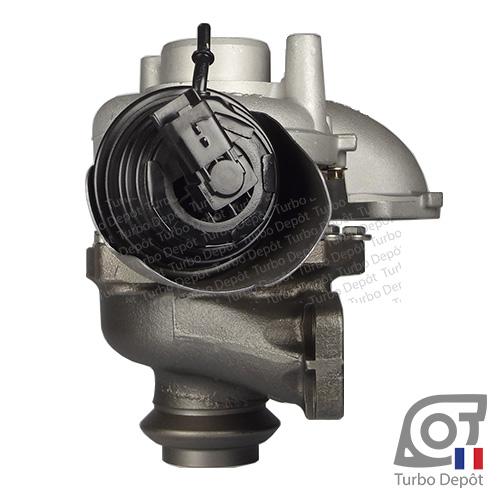 Turbo TR11010M pour GARRETT 784011, 806291, 824060, face 3, sur PEUGEOT 4008 (2012-2017) 1.6 HDi 114cv, 5008 (2009-2017) 1.6 HDi 112/114cv, 508 (2011-…) 1.6 HDi 112/115cv, PARTNER (2008-2015) 1.6 HDi 112/114cv, PARTNER TEPEE (2008-2015) 1.6 HDi 112/114cv, VOLVO C30 (2006-2013) 1.6 D2 115cv, S40 (2004-2012) 1.6 D2 115cv, S60 (2010-…) 1.6 D2 114cv, S80 (2006-2016) 1.6 D2 114cv, V40 (2012-…) 1.6 D2 114cv, V50 (2004-2012) 1.6 D2 114cv, V60 (2010-…) 1.6 D2 114cv et V70 (2007-2016) 1.6 D2 114cv