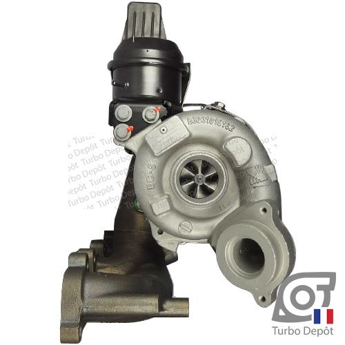 Turbo TR11013U pour BORGWARNER 5303-970-0132, 5303-970-0139, 5303-970-0152, 5303-970-0205, 5303-970-0206, face 1, sur AUDI A3 (2003-2012) DIESEL 2.0 TDI 136/140cv, SKODA YETI (2009-2013) DIESEL 2.0 TDI 140cv, VW VOLSKWAGEN EOS (2006-2015) DIESEL 2.0 TDI 140cv et VW GOLF 5 (2003-2008) DIESEL 2.0 TDI 140cv