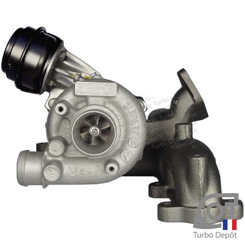 Turbo TR11014W pour Garrett 454232, 713672, 713673, 768329, 768331, BorgWarner 5439-970-0001, 5439-970-0003, 5439-970-0006, 5439-970-0017 et 5439-970-0081, face 1