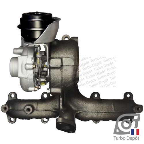 Turbo TR11014W pour Garrett 454232, 713672, 713673, 768329, 768331, BorgWarner 5439-970-0001, 5439-970-0003, 5439-970-0006, 5439-970-0017 et 5439-970-0081, face 2