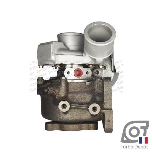 Turbo TR11016Y pour MITSUBISHI 49335-01100, 49335-01101, 49335-01102, face 3, sur PEUGEOT 4008 (2012-2017) DIESEL 1.8 HDi 150cv