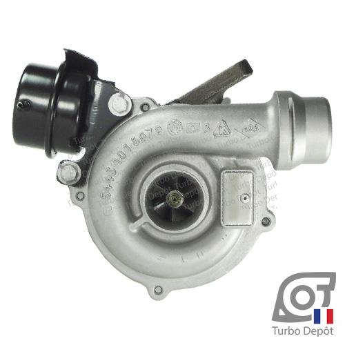 Turbo TR11032X pour BORGWARNER 5439-970-0002, 5439-970-0027, face 1, sur RENAULT CLIO (1998-2012) DIESEL 1.5 dCi 100cv et RENAULT MEGANE (2002-2009) DIESEL 1.5 dCi 100cv
