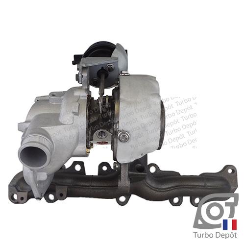 Turbo TR11050Y pour MAHLE 030TC11002000 face 1, sur VW VOKSWAGEN VAG PASSAT (2015-…) DIESEL 2.0 TDI 150cv, VW TIGUAN (2016-…) DIESEL 2.0 TDI 150cv et VW TOURAN (2015-…) DIESEL 2.0 TDI 150cv