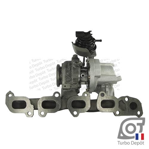 Turbo TR11052A pour GARRETT 813860, 847671 face 2, sur SEAT LEON (2012-…) DIESEL 1.6 TDI 105/110cv et SKODA OCTAVIA (2013-…) DIESEL 1.6 TDI 110cv