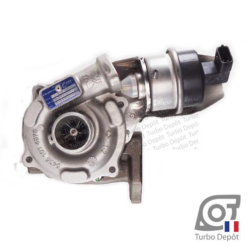 Turbo TR11067Y pour BORGWARNER 5430-970-0000, face 1, sur ALFA-ROMEO MITO (2008-…) DIESEL 1.3 D MultiJet 80/84cv et FIAT 500L (2012-…) DIESEL 1.3 D MultiJet 84cv