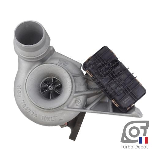 Turbo TR11079P pour MITSUBISHI 49335-00500/-00510/-00511/-00520/-00521/-00530/-00531/-00550/-00560/-00561/-00570/-00581/-00582/-00583/-00584/-00585 face 1, sur BMW 320d (E90/E91/E92/E93) (2005-2012) DIESEL 2.0 184cv