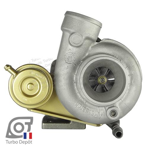 Turbo TR20026L pour GARRETT 466196-0003, 466196-0004, 466196-0005, 466196-0006, 466506-0003, 466506-0004, 466506-0005, 466506-0006, 466506-0007, 466506-0008, 466506-0009, 465367-0001, 465367-0002, 465367-0003 face 1, sur RENAULT SUPER 5 GT Turbo (1985-1991) ESSENCE 1.4 - 115/120cv