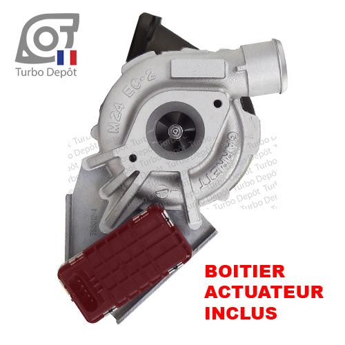 Turbo TR11099W pour Garrett 752610-0009, 752610-0010, 752610-0012, 752610-0013, 752610-0015, 752610-0016, 752610-0025, 752610-0026, 752610-0029 et 752610-0032, livré avec boitier actuateur