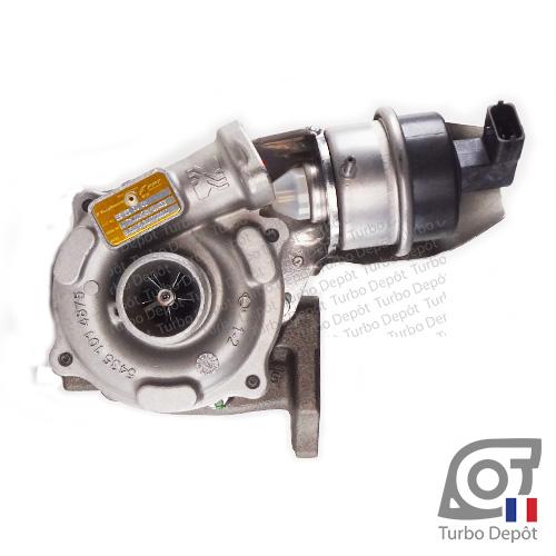 Turbo TR11101Y pour BORGWARNER 5435-970-0037 face 1, sur ALFA ROMEO MITO (2008-2018) DIESEL 1.3 D MultiJet 95cv, FIAT FIORINO (2007-2017) DIESEL 1.3 D MultiJet 95cv et FIAT IDEA (2004-2010) DIESEL 1.3 D MultiJet 95cv
