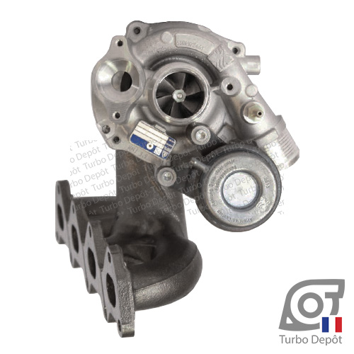 Turbo TR10123D pour BORGWARNER 5303-970-0099, 5303-970-0142, 5303-970-0150, 5303-970-0162, 5303-970-0248, 5303-970-0459, face 1, sur AUDI A1 (2010 à 2018) ESSENCE 1.4 TFSI 185cv, SEAT ALHAMBRA (2010 à ce jour) ESSENCE 1.4 TSI 150cv, SEAT IBIZA (2008 à 2017) ESSENCE 1.4 TSI 150/180cv, SKODA FABIA (2007 à 2015) ESSENCE 1.4 TSI 180cv, VW VOLKSWAGEN BEETLE (2011 à 2018) ESSENCE 1.4 TSI 160cv, VW VOLKSWAGEN CC (2008 à 2016) ESSENCE 1.4 TSI 160cv, VW EOS (2006 à 2015) ESSENCE 1.4 TSI 160cv, VW GOLF 5 (2003 à 2008) ESSENCE 1.4 TSI 140/160/170cv, VW GOLF 6 (2008 à 2012) ESSENCE 1.4 TSI 160cv, VW GOLF Plus (2005 à 2014) ESSENCE 1.4 TSI 140/160/170cv, VW VOLKSWAGEN JETTA (2005 à 2010) ESSENCE 1.4 TSI 140/160/170cv, VW JETTA (2010 à ce jour) ESSENCE 1.4 TSI 150/160cv, VW PASSAT (2010 à 2015) ESSENCE 1.4 TSI 160cv, VW PASSAT CC (2008 à 2012) ESSENCE 1.4 TSI 160cv et VW POLO (2009 à 2017) ESSENCE 1.4 GTI 180cv
