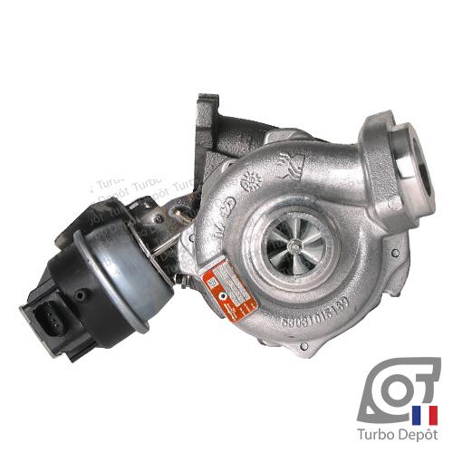 Turbo TR11119Z pour BORGWARNER 5303-988-0133/-0140/-0190 face 1, sur AUDI A4 (2007-2015) DIESEL 2.0 TDI 120/136/143cv, AUDI A5 (2007-2016) DIESEL 2.0 TDI 136/143cv et AUDI A6 (2004-2011) DIESEL 2.0 TDI 136cv