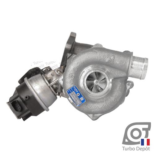Turbo TR11124E pour BORGWARNER 5303-970-0109 face 1, sur AUDI A4 (2004-2008) DIESEL 2.0 TDI 163/170cv