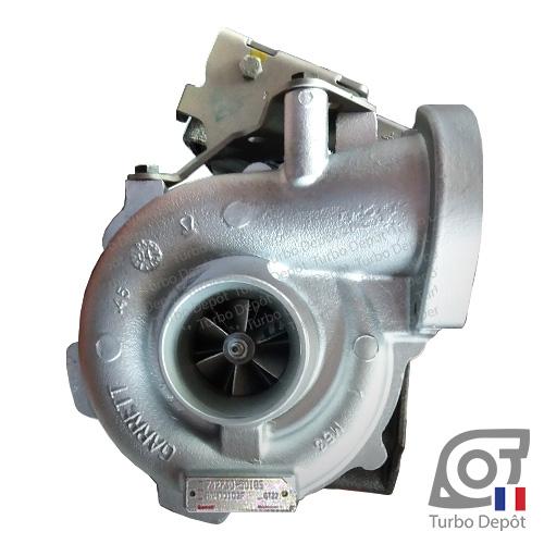 Turbo TR11127K pour GARRETT 750080-0001, 750080-0007, 750080-0013, 750080-0015, 750080-0016, 750080-0018, 750080-0019 face 1, sur BMW 525d (E60/E61) (2003-2010) DIESEL 2.5 120/130cv