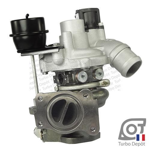 Turbo TR20122C pour BORGWARNER 5303-970-0117/-0180/-0292/-0426 face 1, sur PEUGEOT 207 RC (2006-2012) ESSENCE 1.6 16v 174cv et PEUGEOT 308 (2007-2013) ESSENCE 1.6 16v 174cv