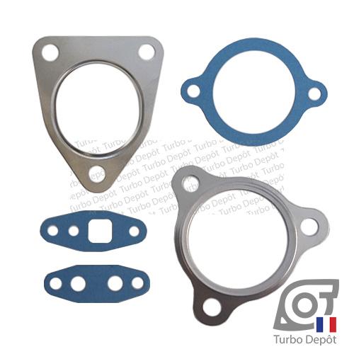 Pochette de joints PJ079P pour turbo TOYOTA 17201-30100, 17201-30101, 17201-30160 et 17201-30161 LANDCRUISER KDJ120/125 (2002-2009) et KDJ150/155 (2009-…) moteurs 3.0 D-4D 173/190cv