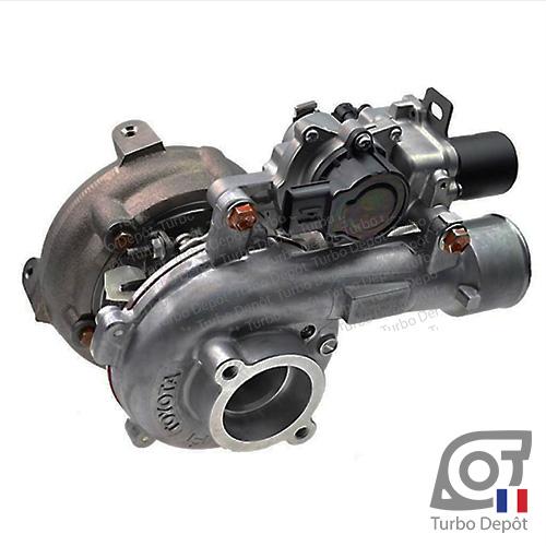 Turbo TR11154A pour TOYOTA 17201-0L040, 17201-0L041, 17201-0L042, 17201-30110, 9B001 face 1, sur TOYOTA HILUX (2005-2015) DIESEL 3.0 D-4D 171cv