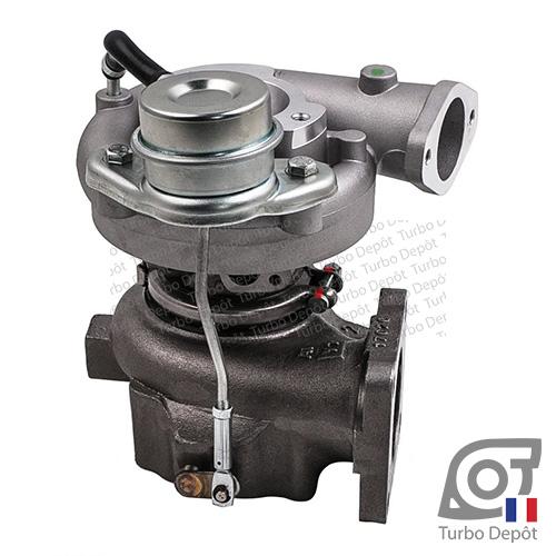 Turbo TR10051Z pour TOYOTA 17201-17040, 17201-74040 face 1, sur TOYOTA LAND CRUISER HDJ100 (1998-2007) DIESEL 4.2 TD 204cv