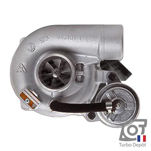 Turbo TR10168X pour BORGWARNER 5303-970-0054 et 5303-970-0081 face 1, sur CITROEN JUMPER (1994 à 2006) DIESEL 2.8 HDi 128cv, FIAT DUCATO (1994 à 2006) DIESEL 2.8 JTD 128cv et PEUGEOT BOXER (1994 à 2006) DIESEL 2.8 HDi 128cv