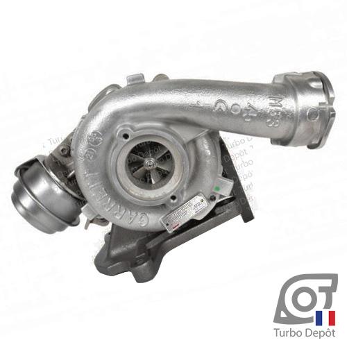 Turbo 1103933 pour GARRETT 760699 face 1, sur VOLKSWAGEN VW MULTIVAN (2003-2015) et TRANSPORTER (2003 à 2015) DIESEL 2.5 TDI 130cv